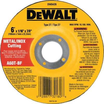 DeWalt HP Type 27 6 In.x  0.045 In. x 7/8 In. Metal/Stainless Cut-Off Wheel