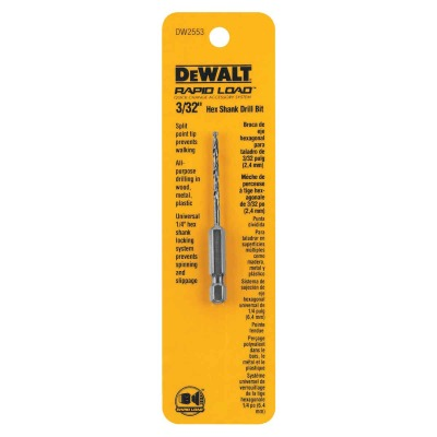 DeWalt Rapid Load 3/32 In. Black Oxide Hex Shank Drill Bit