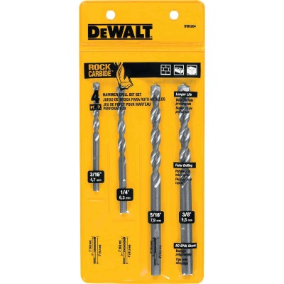DeWalt Masonry Drill Bit Set (4-Pieces)