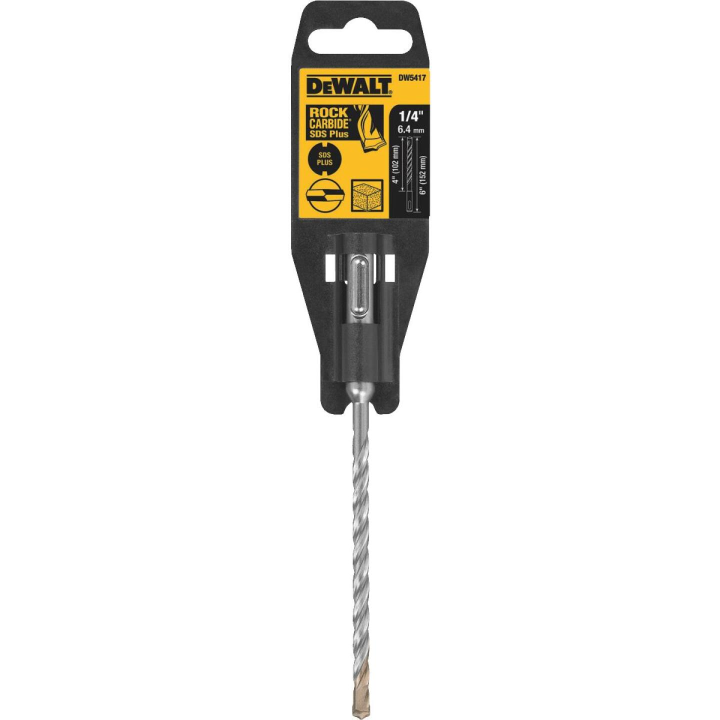 DeWalt SDS-Plus 1/4 In. x  6 In. 2-Cutter Rotary Hammer Drill Bit Image 2