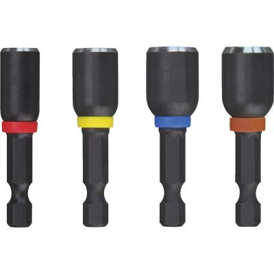 Milwaukee Shockwave 4-Piece Impact Magnetic Nutdriver Bit Set
