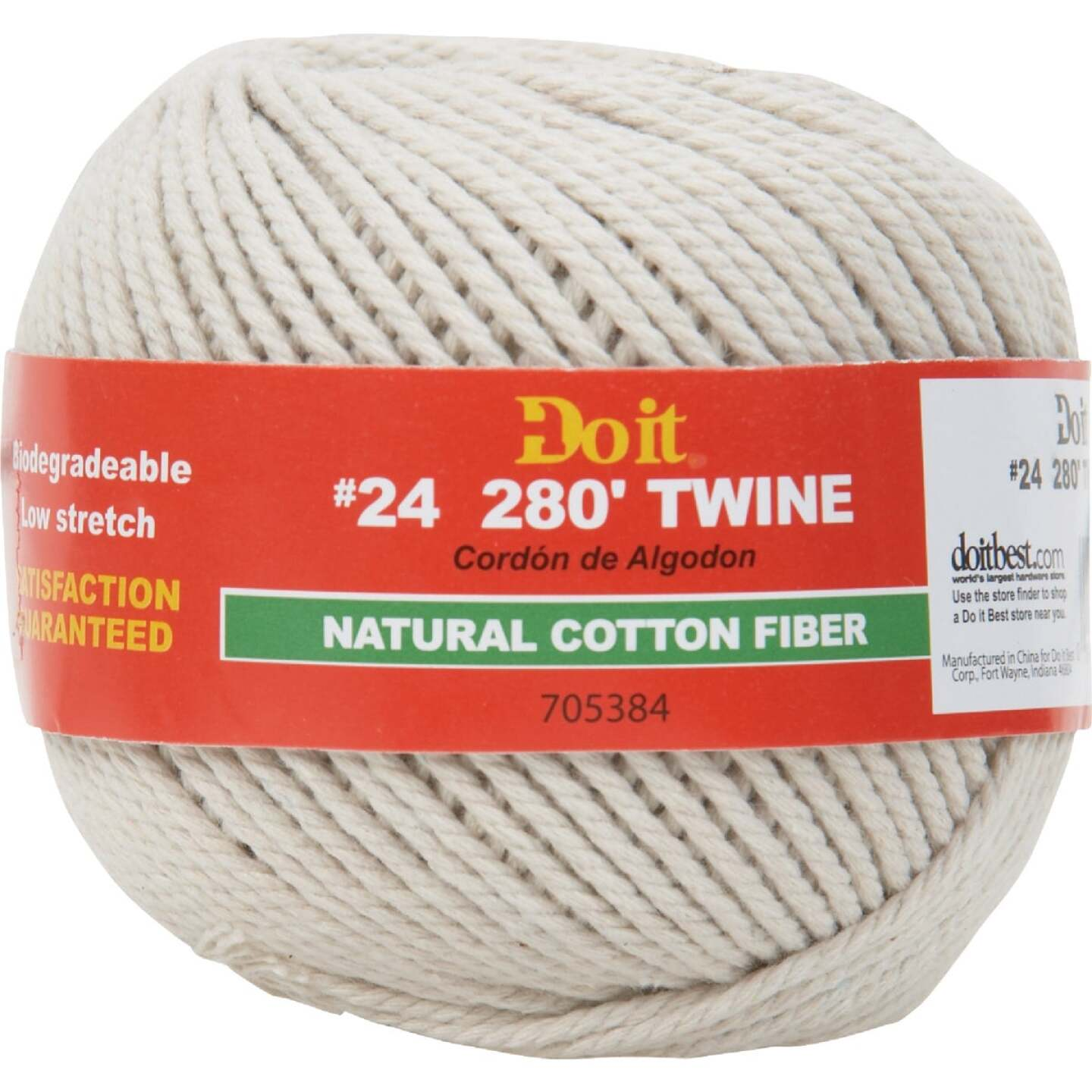 Do it #24 x 280 Ft. Natural Cotton Twine Image 1