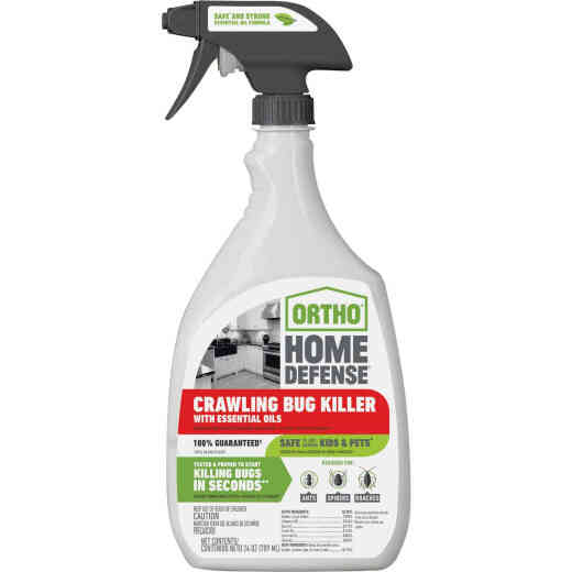 Ortho Home Defense 24 Oz. Ready To Use Trigger Spray Crawling Bug Killer with Essential Oils