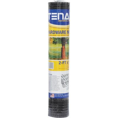 Tenax 2 Ft. H. x 15 Ft. L. Plastic Hardware Netting Garden Fence, Black