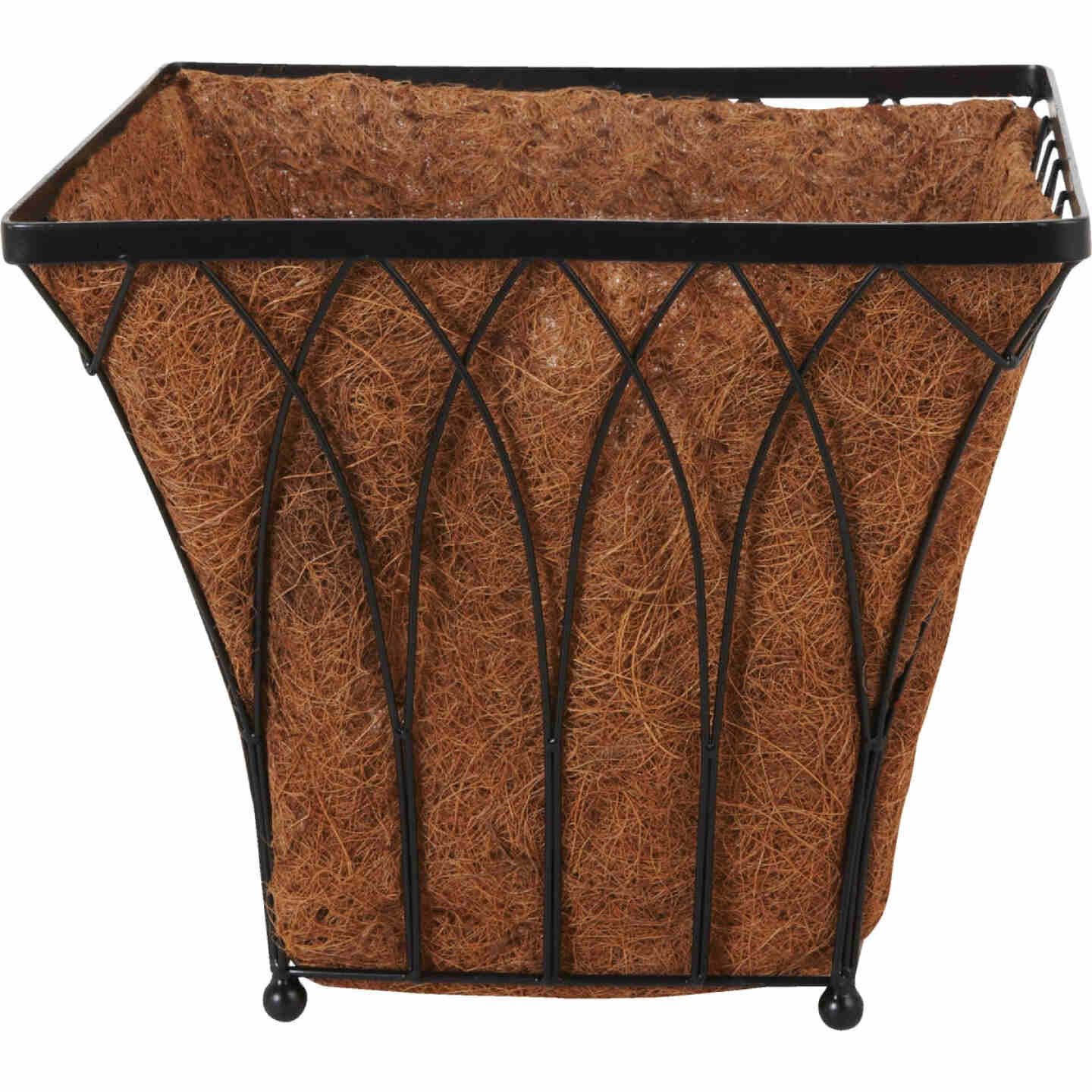 Best Garden 14 In. Steel Rod Black Planter Image 2