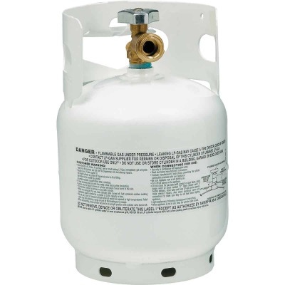 Manchester Tank and Equipment 5 Lb. Capacity Steel TC/DOT Vertical LP Propane Tank
